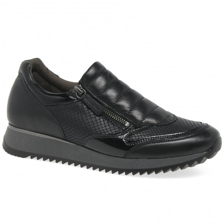 gabor leather trainers