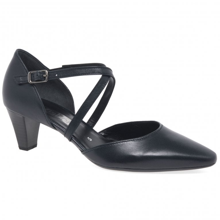 Callow Womens Modern Cross Strap Court Shoes