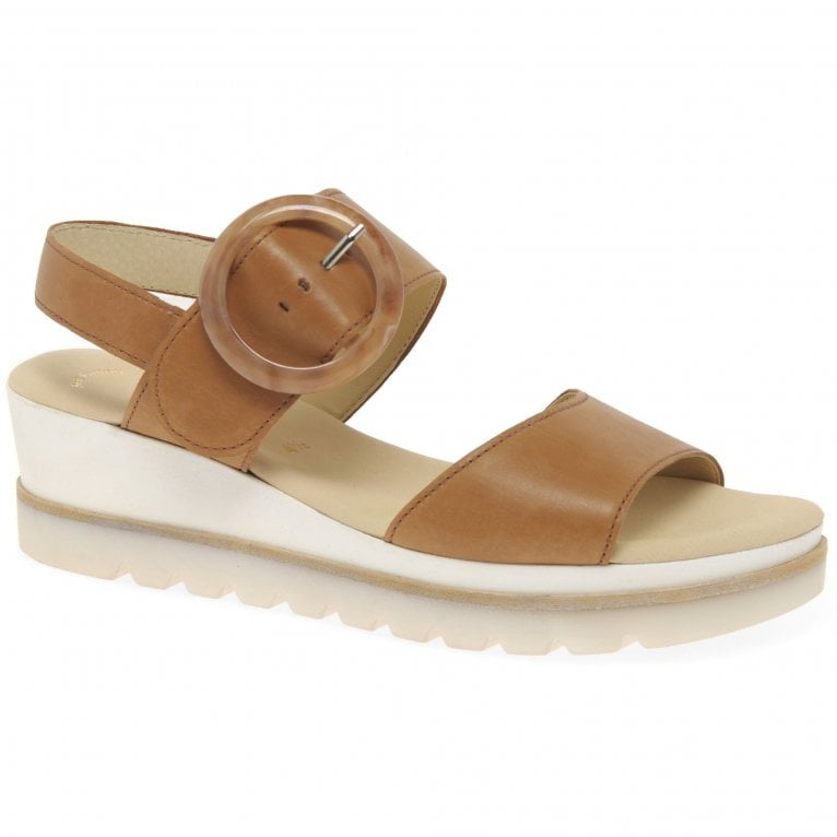 Yeo Womens Wedge Mid Heel Sandals