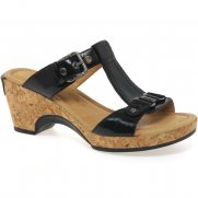 Fragrance Buckle Strap Wide Fit Ladies Mules