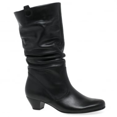 Rachel Leather Wide Calf Boots