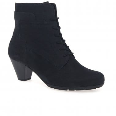 National Ladies Lace Up Ankle Boots