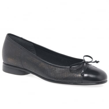 Bunty Leather Ballet Pumps