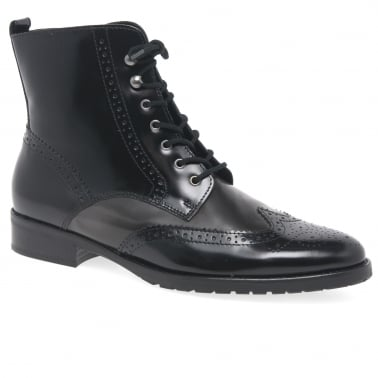 Connected Ladies Brogue Ankle Boots