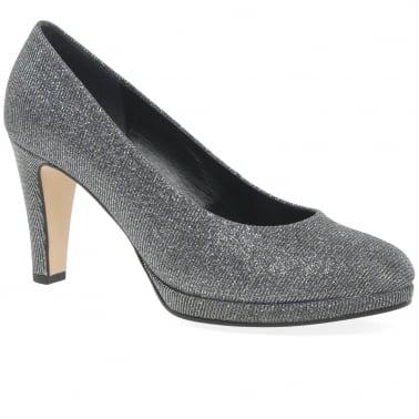 Splendid Womens High Heel Court Shoes. Argento Metallic Hi Tec 56fe0ad458