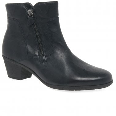 a81b0f981a6b Selina Womens Zip Classic Leather Ankle Boots