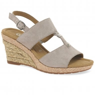 1bd91cb1808e Keira Womens Wedge Heel Sandals