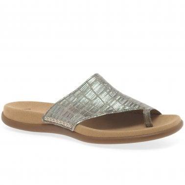 Ladies Toe Post Sandals | Leather Toe